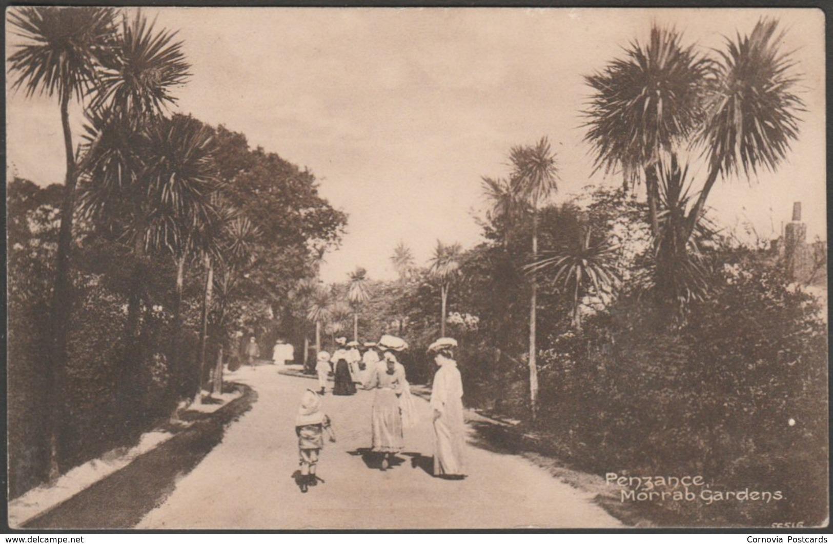 Morrab Gardens, Penzance, Cornwall, 1913 - Frith's Postcard - England