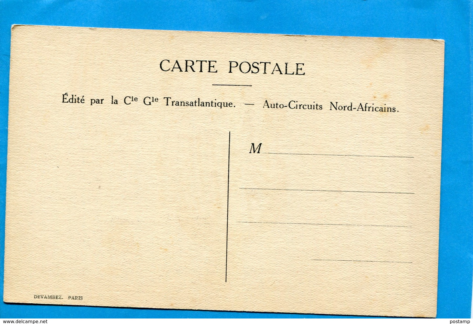 SANDOZ-Illustrateur  A F Nentrée Du Souk-édition Cie Transat   -carte Neuve-années 20- - Illustrateurs & Photographes