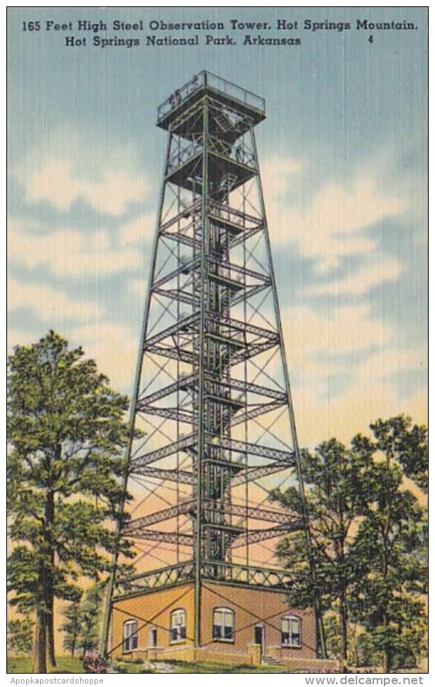 Arkansas Hot Springs 165 Feet High Steel Observation Tower Hot S