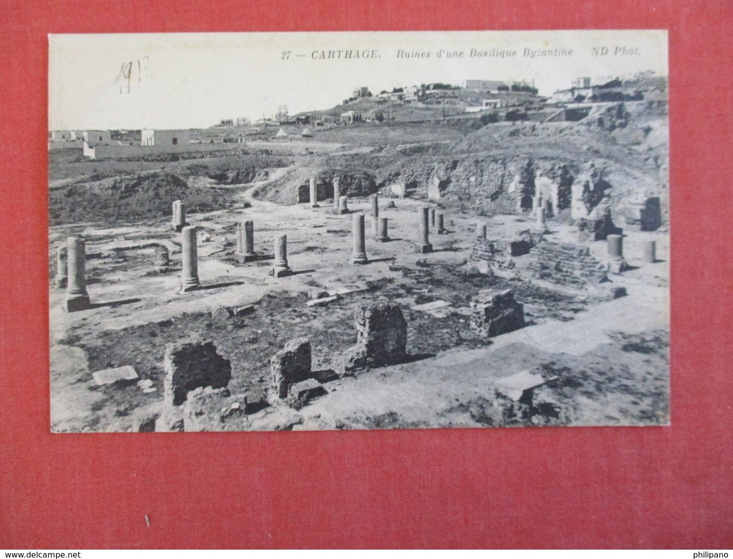 Tunisia  Carthage Ruines Basilique Byzantine --ref 2950 - Tunisia