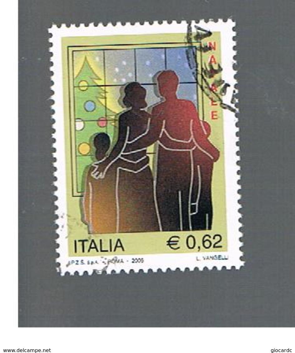 ITALIA REPUBBLICA  -  2005 NATALE - USATO ° - 6. 1946-.. República