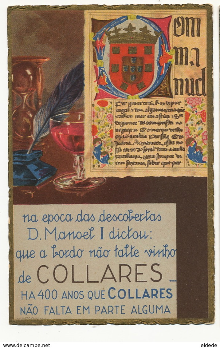 Vinho De Collares Advert Colares  Lito Maia Porto King Manoel I - Autres