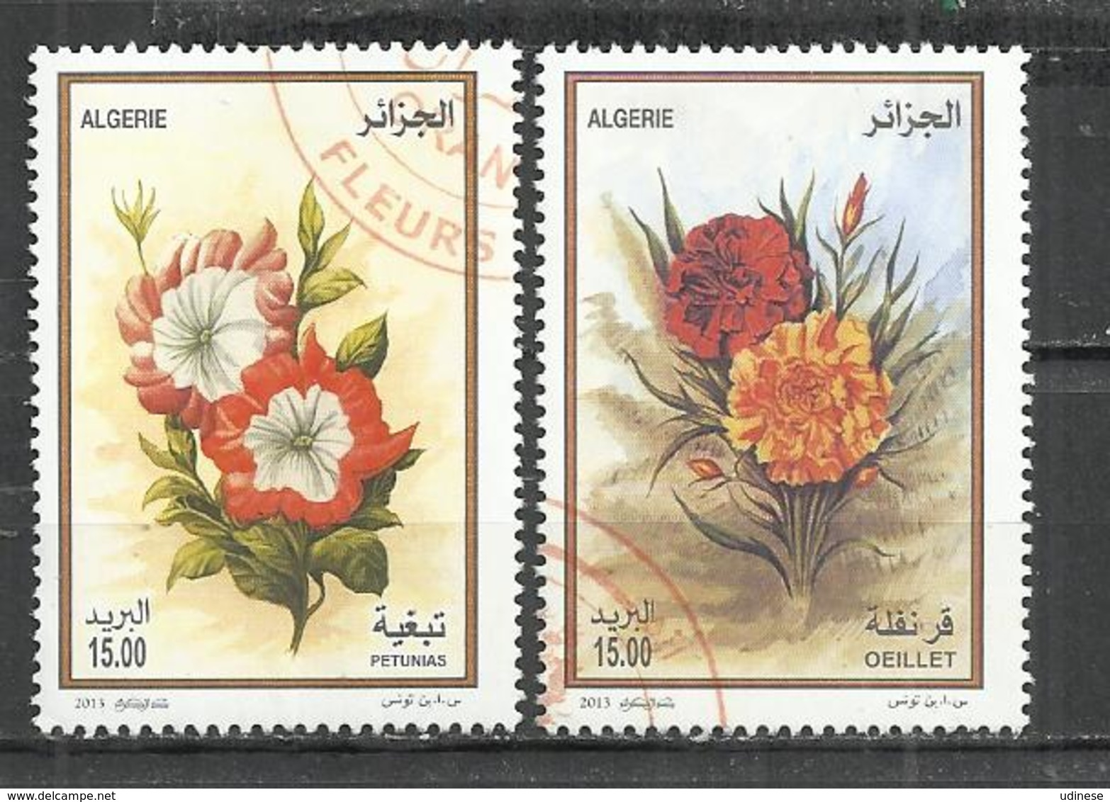 ALGERIA 2013 - FLOWERS - CPL. SET - OBLITERE USED GESTEMPELT USADO - Végétaux
