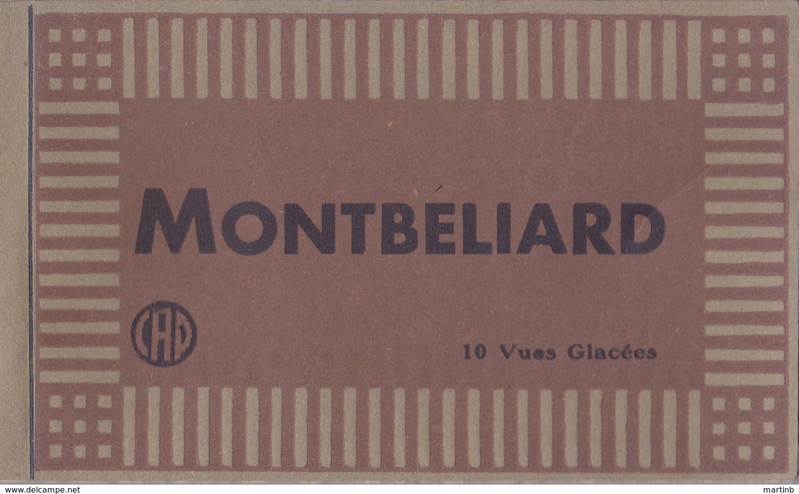 MONTBELIARD  Carnet De De 10  Cartes - Montbéliard