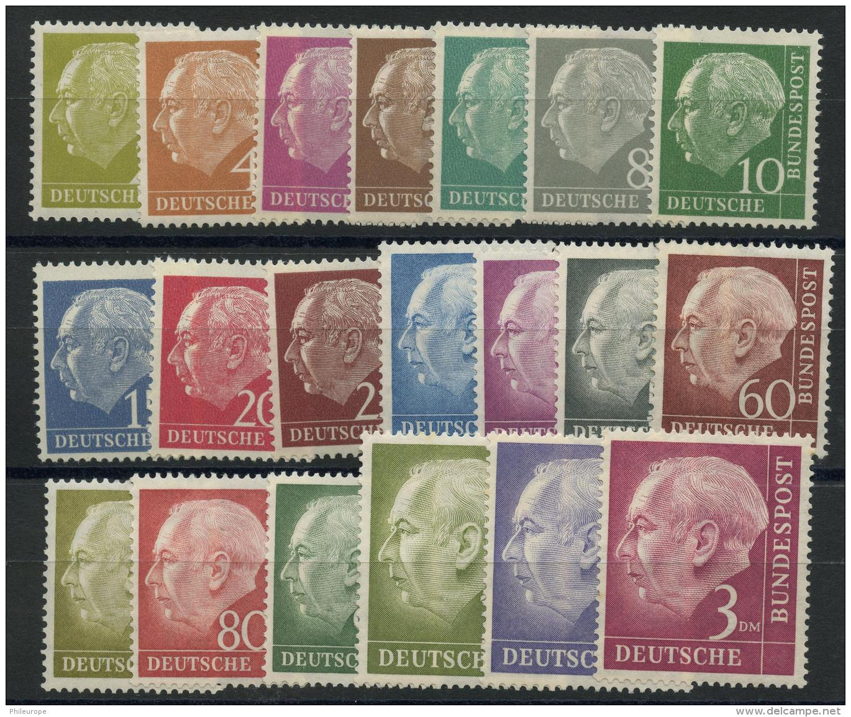 Allemagne Federale (1953) N 62A A 72B (Luxe) Sauf N 71B (Charniere) - Neufs