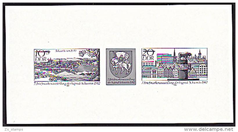 DDR Schwerin Schwarzdruck  Vom Zusammendruck Zur Jugendausstellung  1982 - [6] Oost-Duitsland