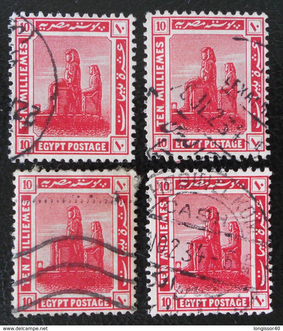 PROTECTORAT BRITANNIQUE - COLOSSE DE MENNON 1922 - OBLITERES - YT 63 - VARIETES DE TEINTES ET D'OBLITERATIONS - 1915-1921 Protectorat Britannique