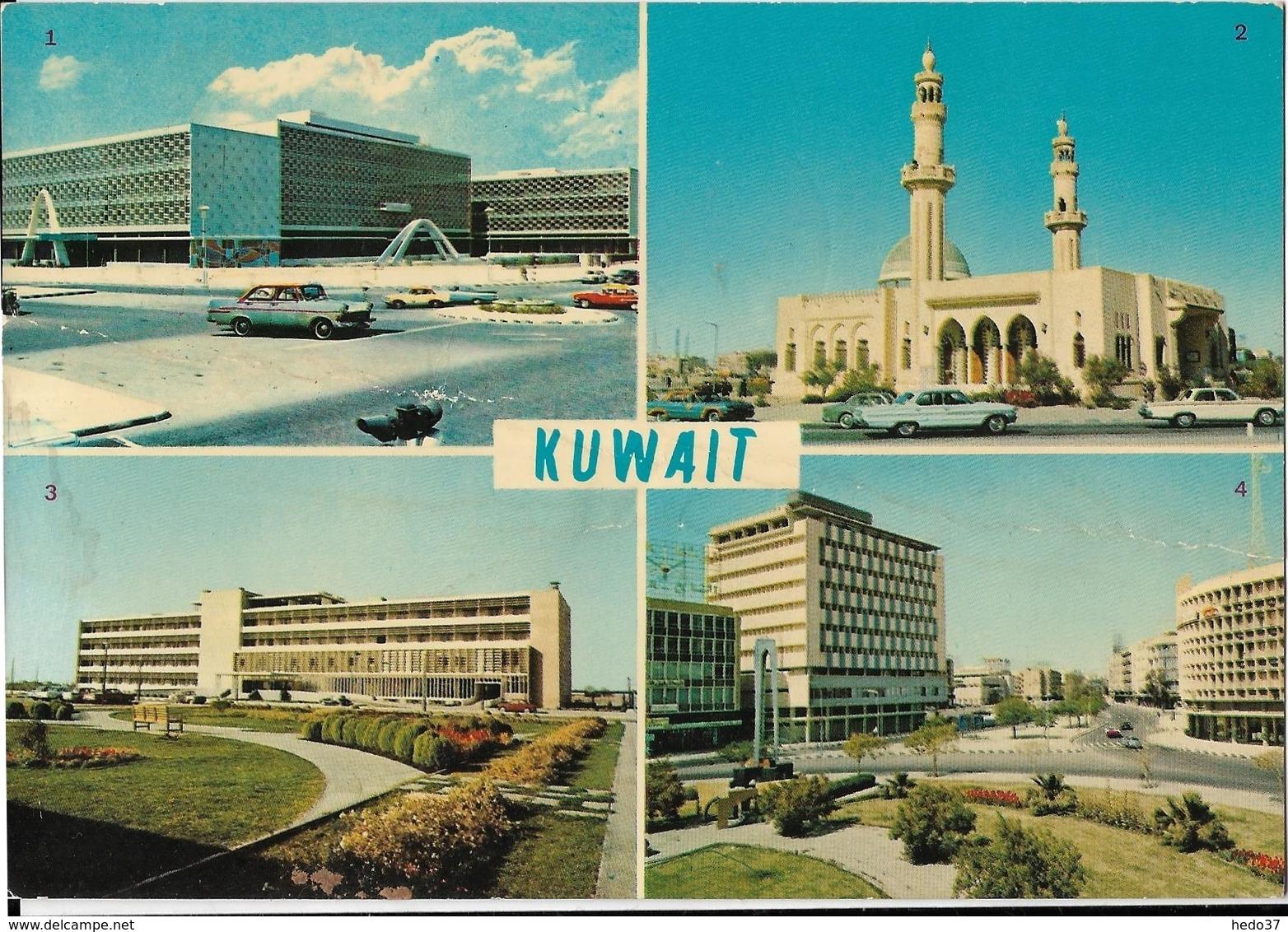 Kuwait - 1.Municipality Buildings - 2.Slamlan Mosque - 3.Sabah Hospital - 4.Fahad Salem Street - Koweït