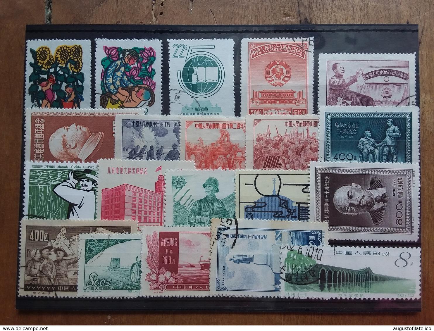 CINA - 20 Francobolli Differenti Anni '50/'60 + Spese Postali - 1949 - ... Repubblica Popolare