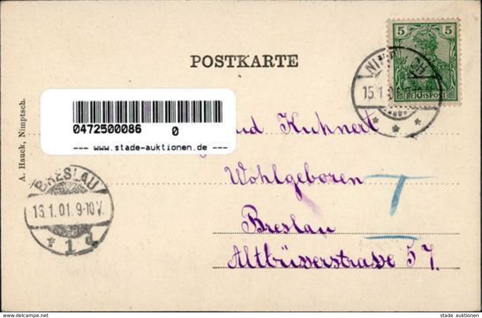 Nimptsch Cafe Lederhandlung  1901 I-II - Weltkrieg 1914-18