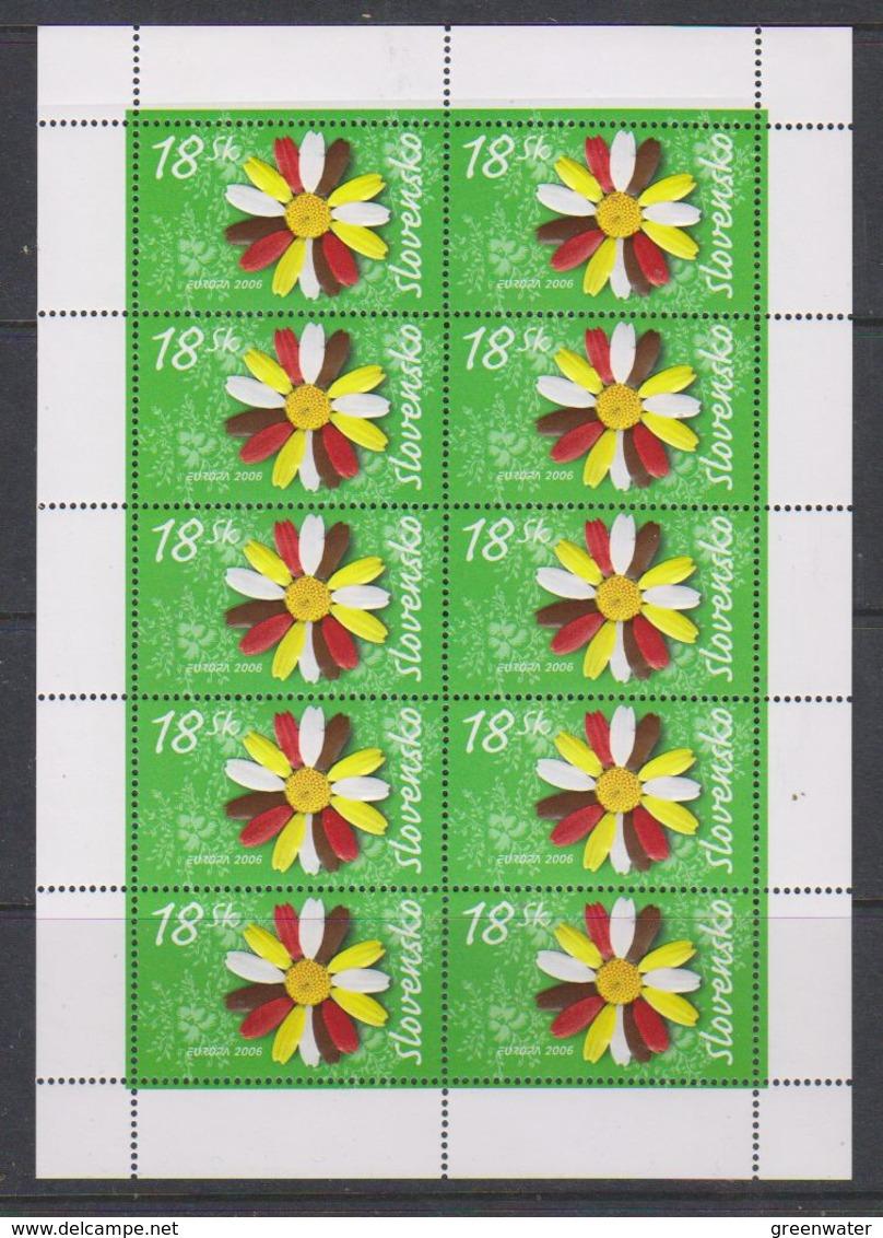 Europa Cept 2006 Slovakia 1v Sheetlet ** Mnh (38751) Promotion - Europa-CEPT