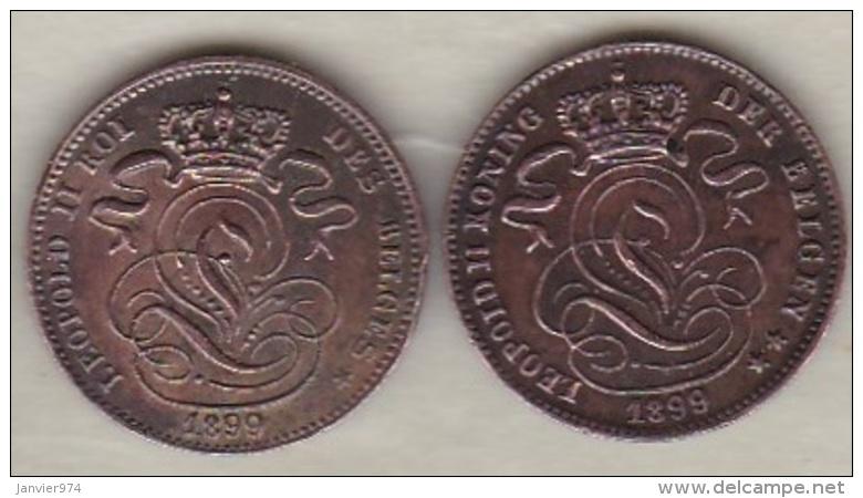 Belgique. 1 Centime 1899. Légende Française Et Légende Flamand. Leopold II - 1865-1909: Leopold II