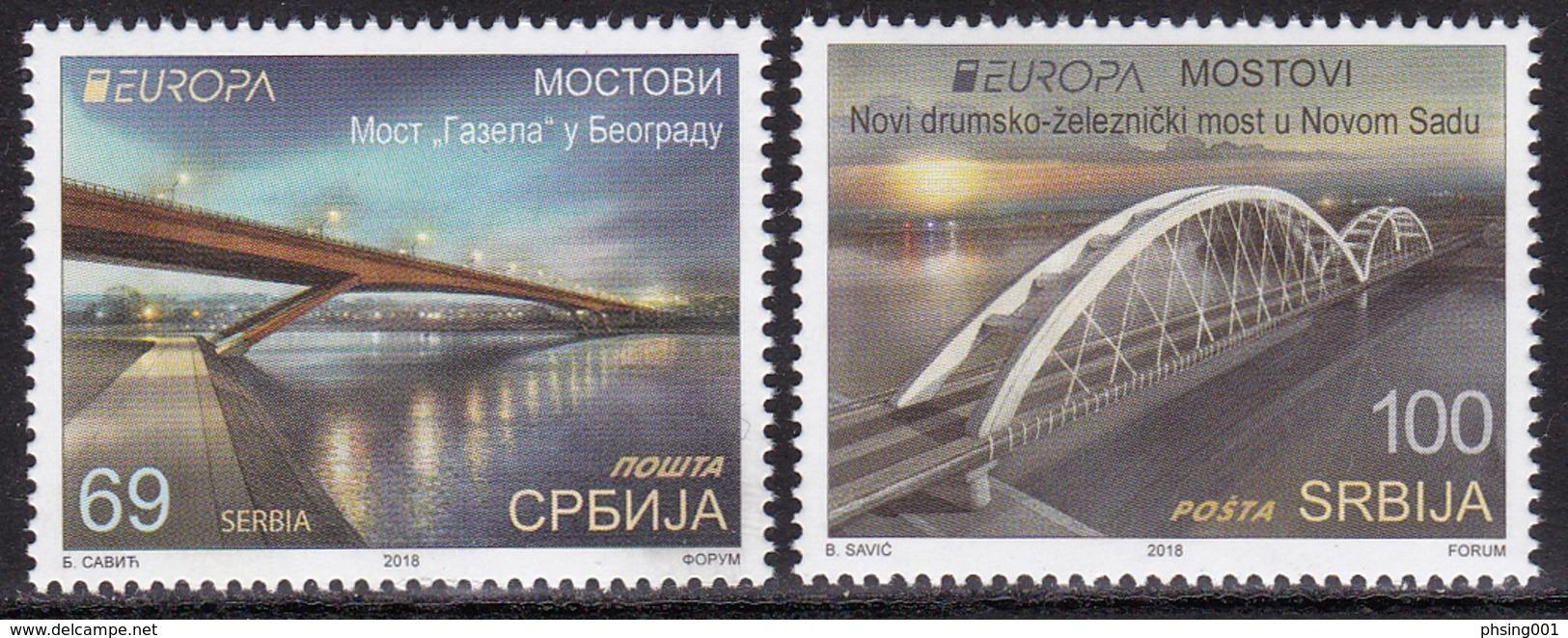Serbia 2018 Europa CEPT Bridges Architecture Bruecken Ponts Set MNH - 2018