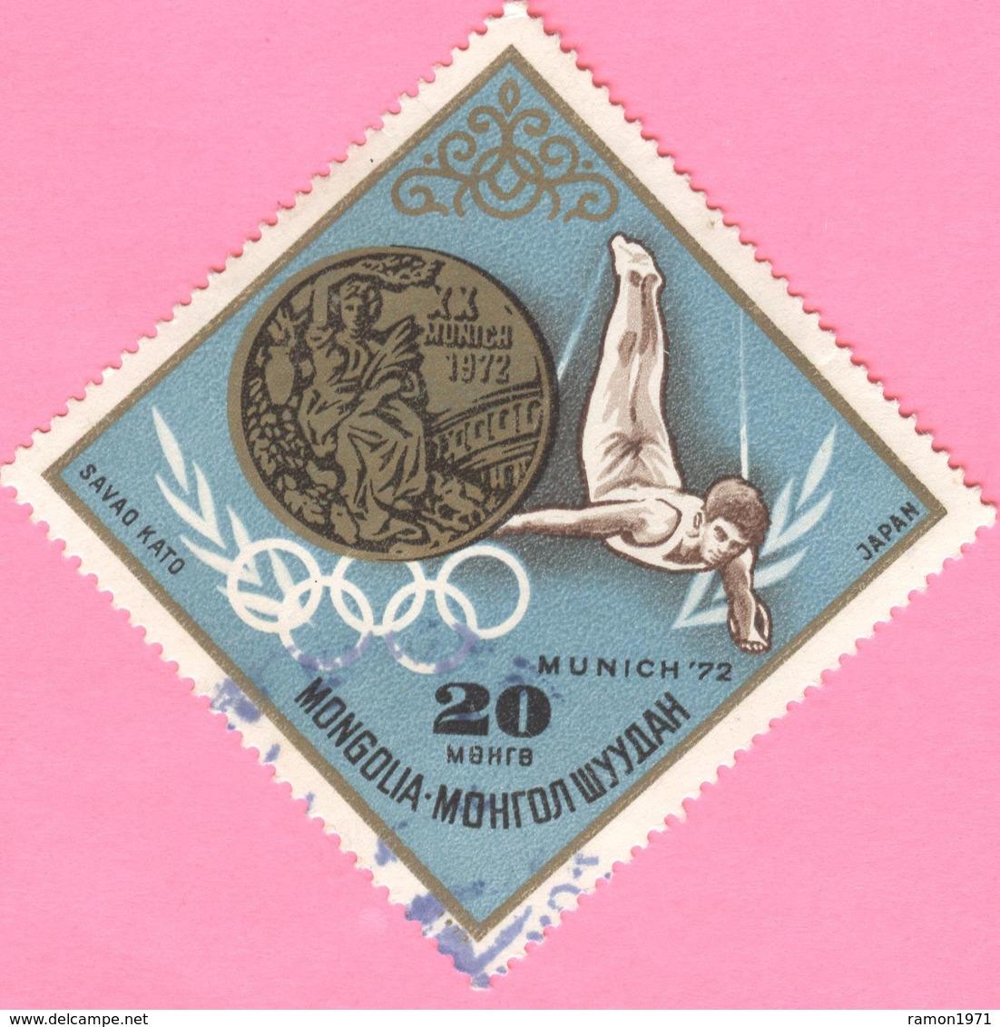 MONGOLIA  - Sports -  Winners Of Olympic Games Munich - 20 M - 1972 - Mongolia