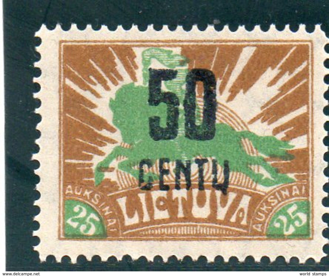 LITUANIE 1922 * - Lituanie
