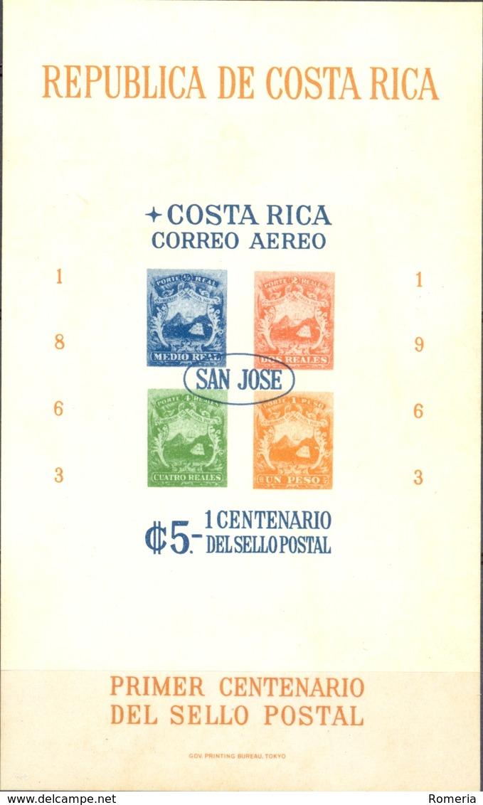 Costa Rica - 1963 - Yt BF 6 -  Centenaire Du Timbre Poste - ** - Costa Rica