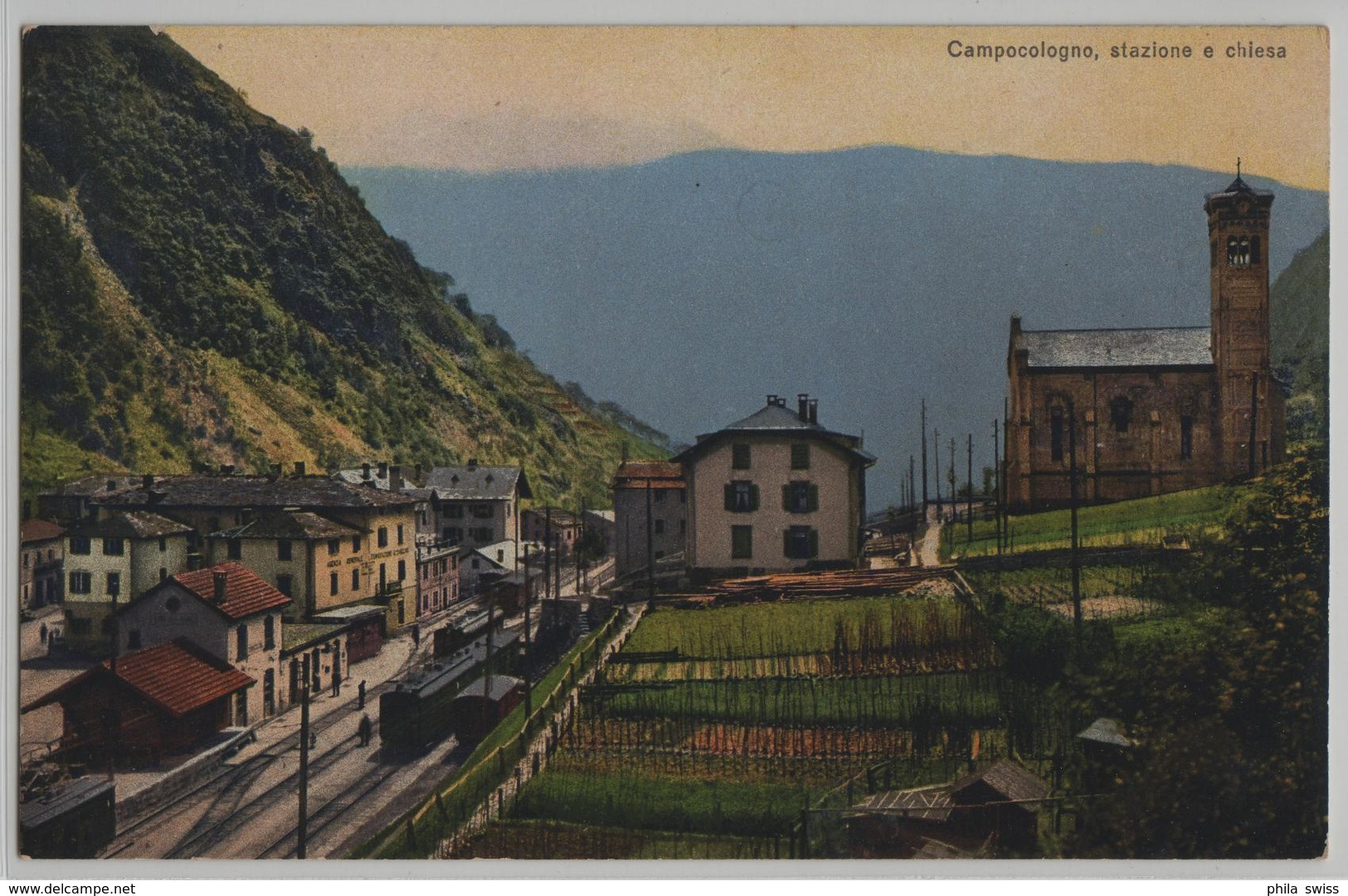 Campocologno, Stazione E Chiesa - Photo: Carl Künzli - GR Grisons
