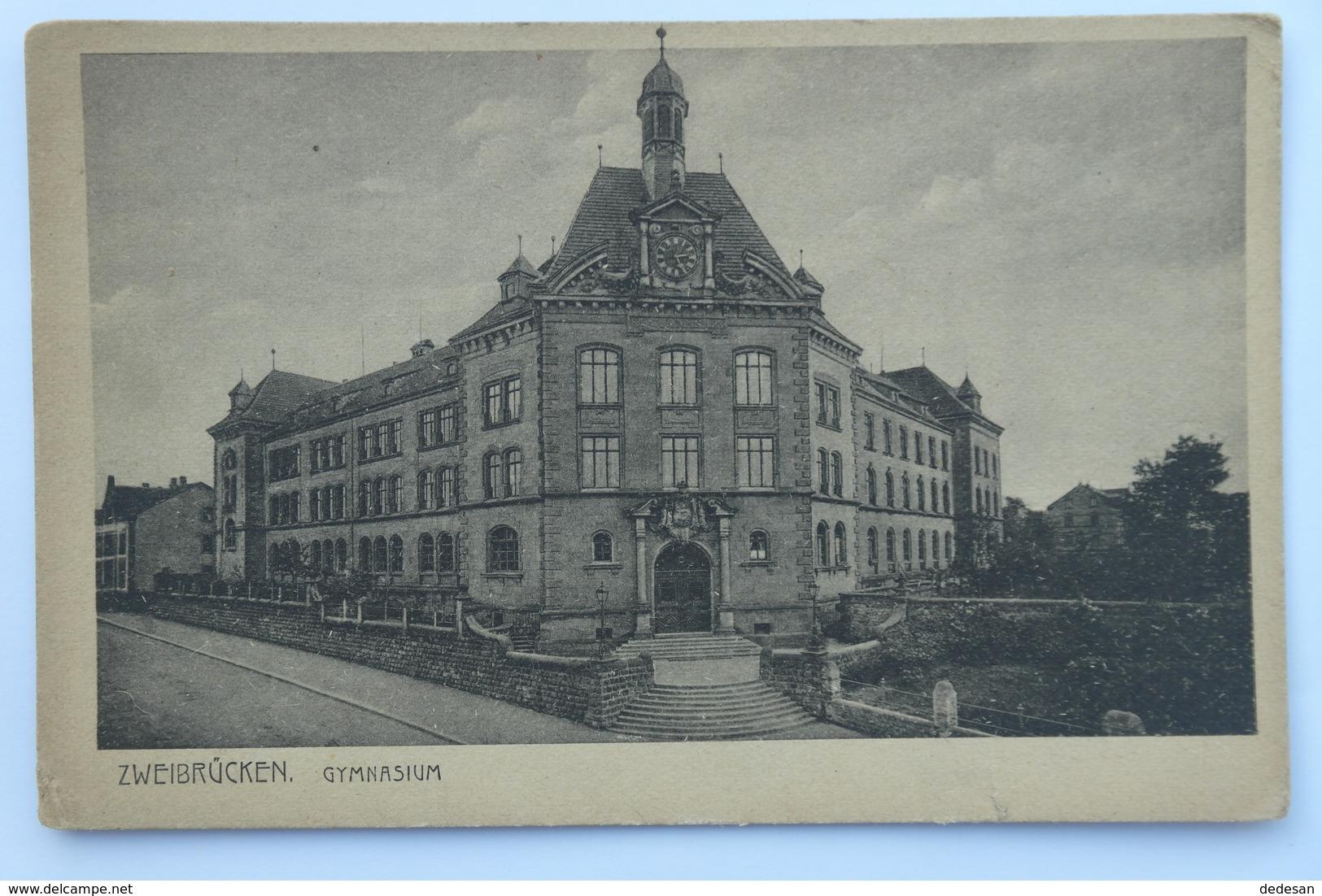 CPA ZWEIBRUCKEN Gymnasium - THE02 - Zweibruecken
