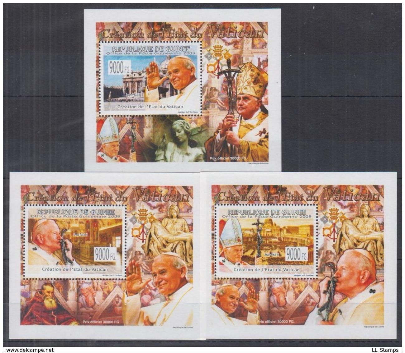 I12. Guinee - MNH - Famous People - Pope - Deluxe - Célébrités