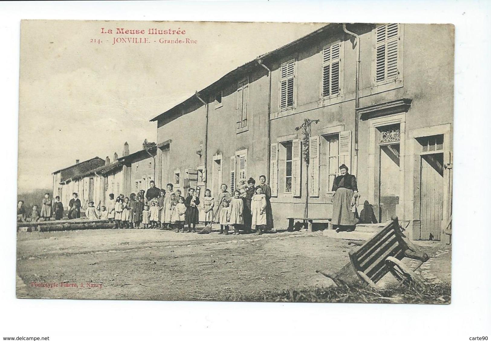 CPA JONVILLE - GRANDE RUE - LA MEUSE ILLUSTREE - TRES ANIMEE - France