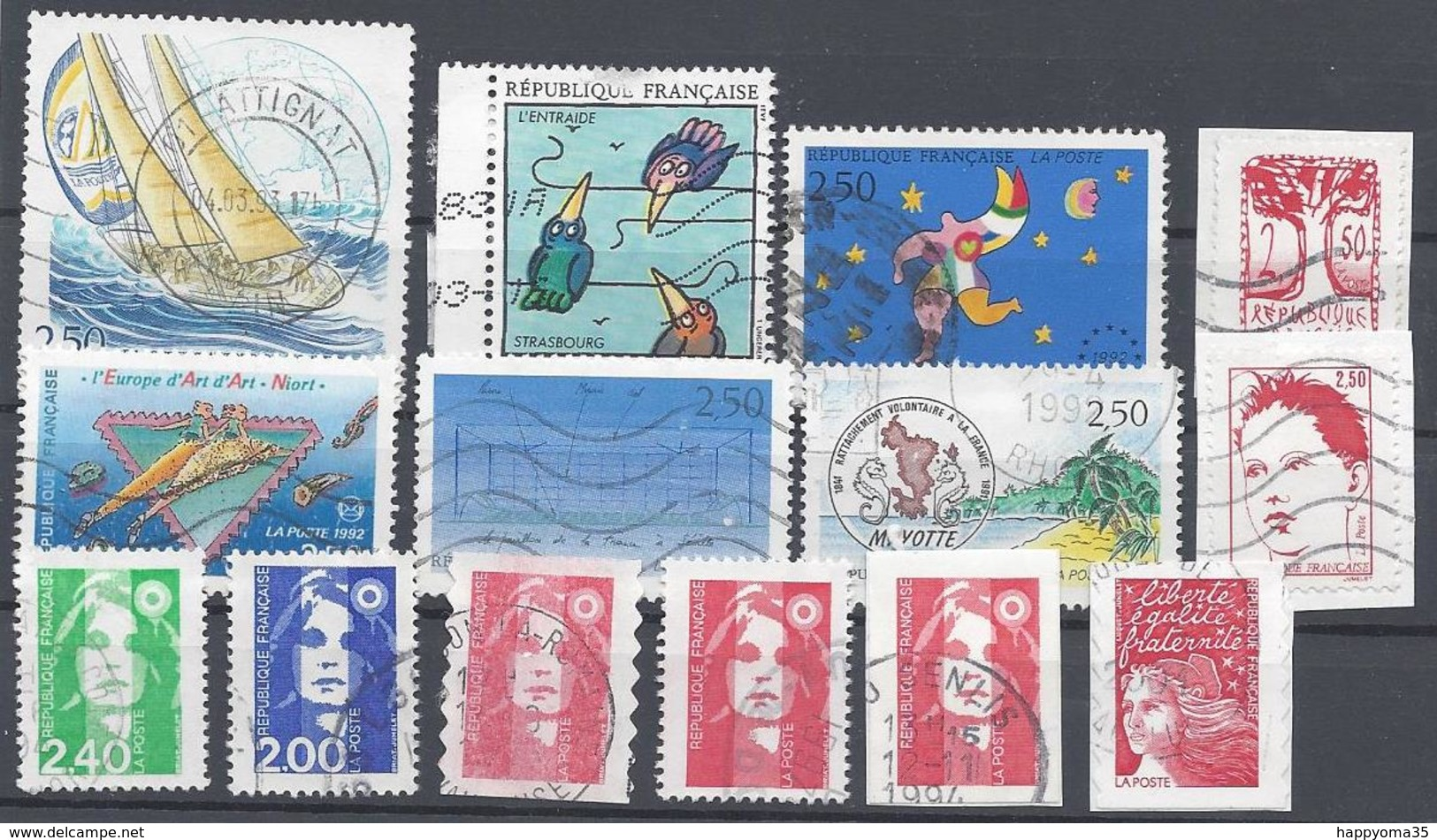 Frankreich  Mix Set Stamps Of France Francia Frankrijk Small Selection Of Fine Used 2303 - Frankreich