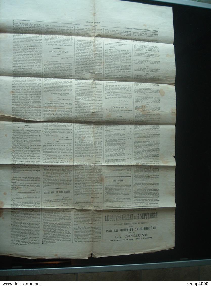 JOURNAUX  Journal  Le Cri Du Peuple Commune De Paris N 64  4mai 1871 Original 2scans - 1850 - 1899