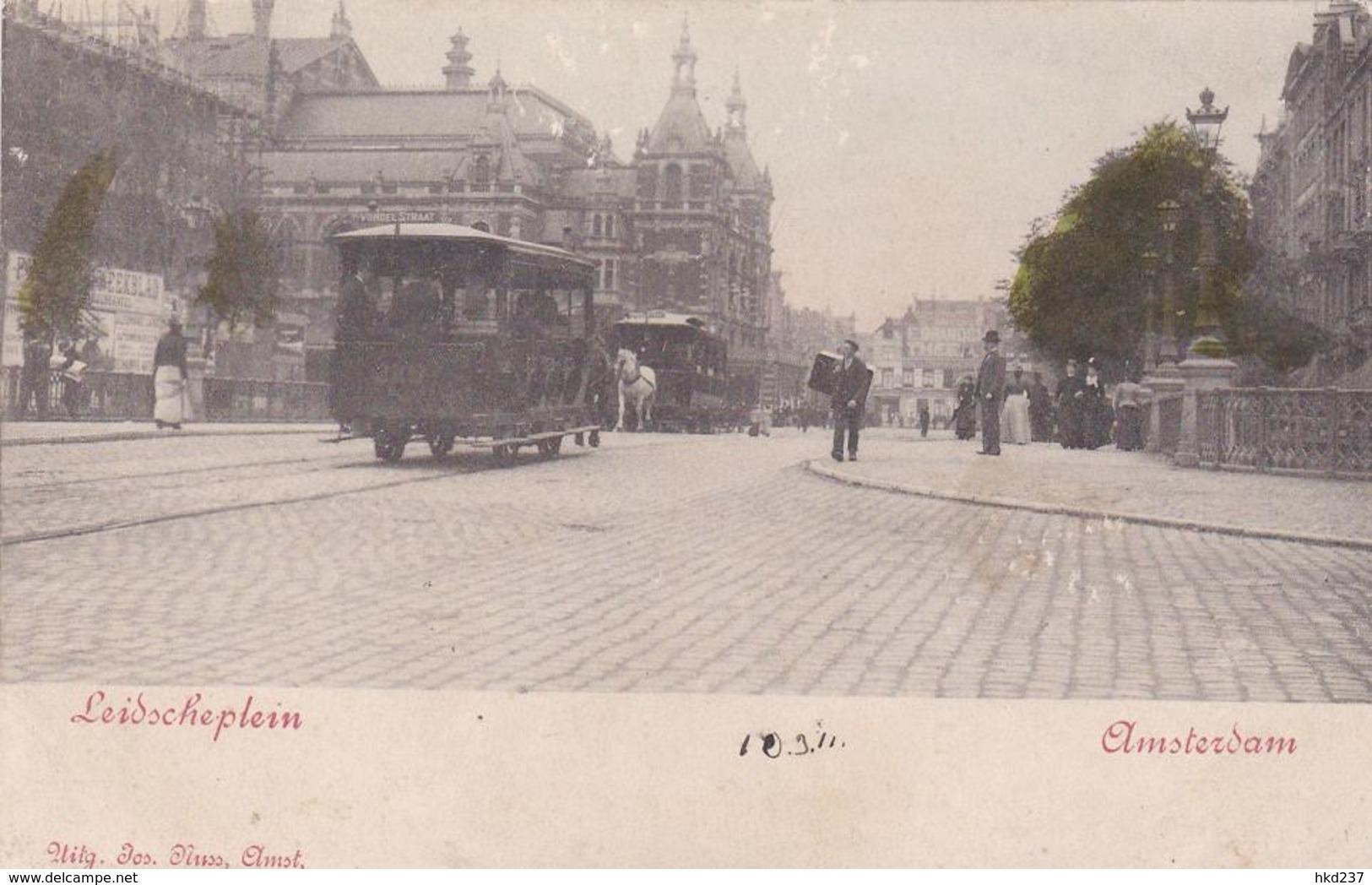Amsterdam Leidscheplein Paardentrams Levendig Ca. 1900    1717 - Amsterdam