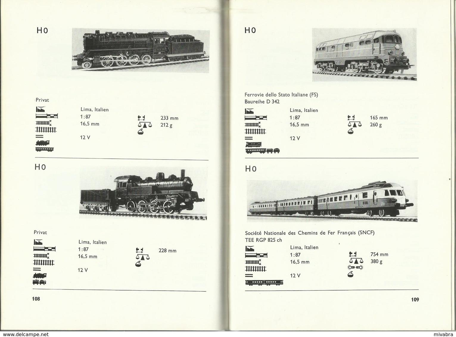 MODELLBAHN TRIEBFAHRZEUGE TYPEN UND DATEN INTERNATIONAL - KLAUS GERLACH - ALBIS 1967 - Books And Magazines