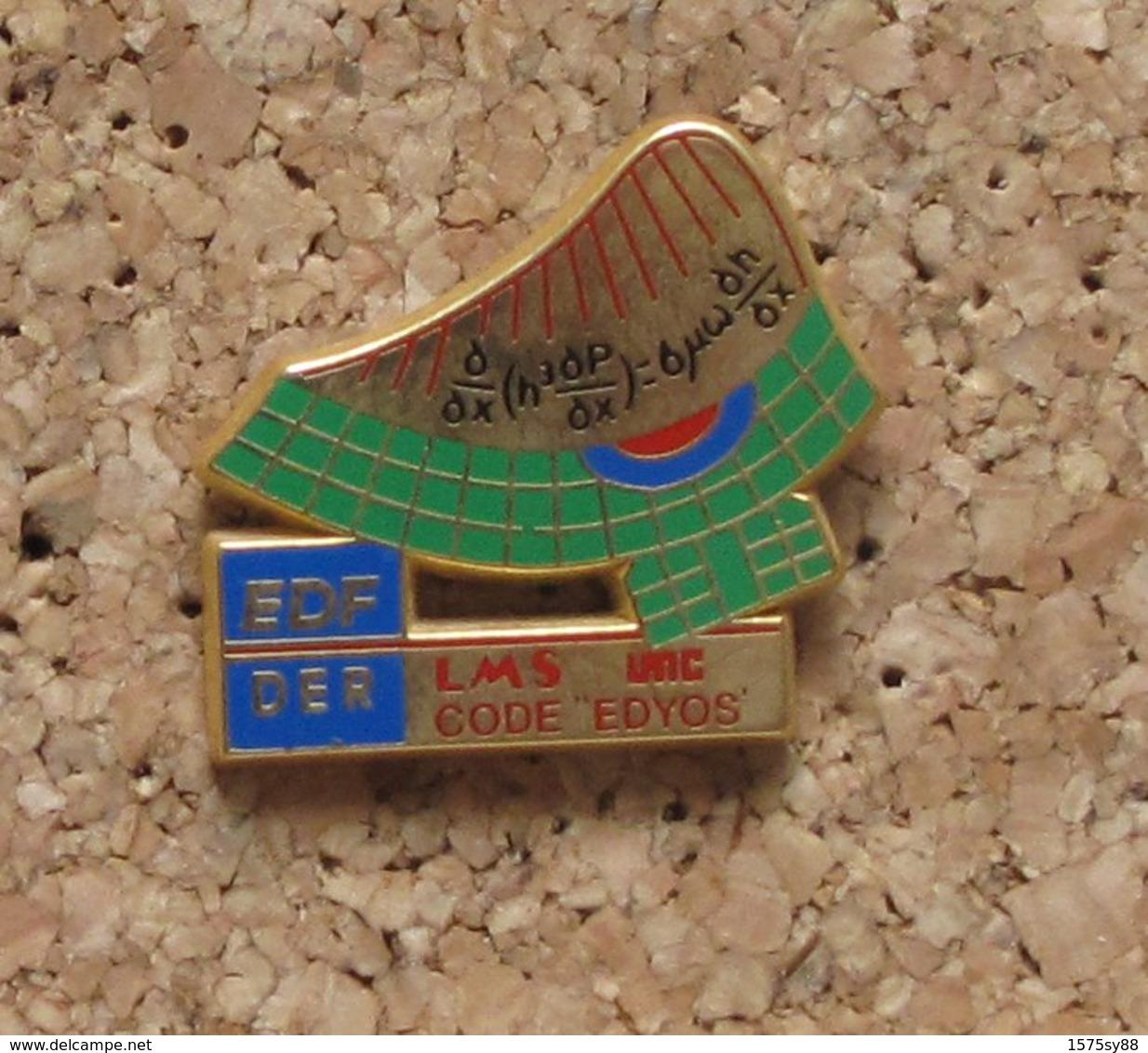 Pin's EDF DER Code Edyos - EDF GDF