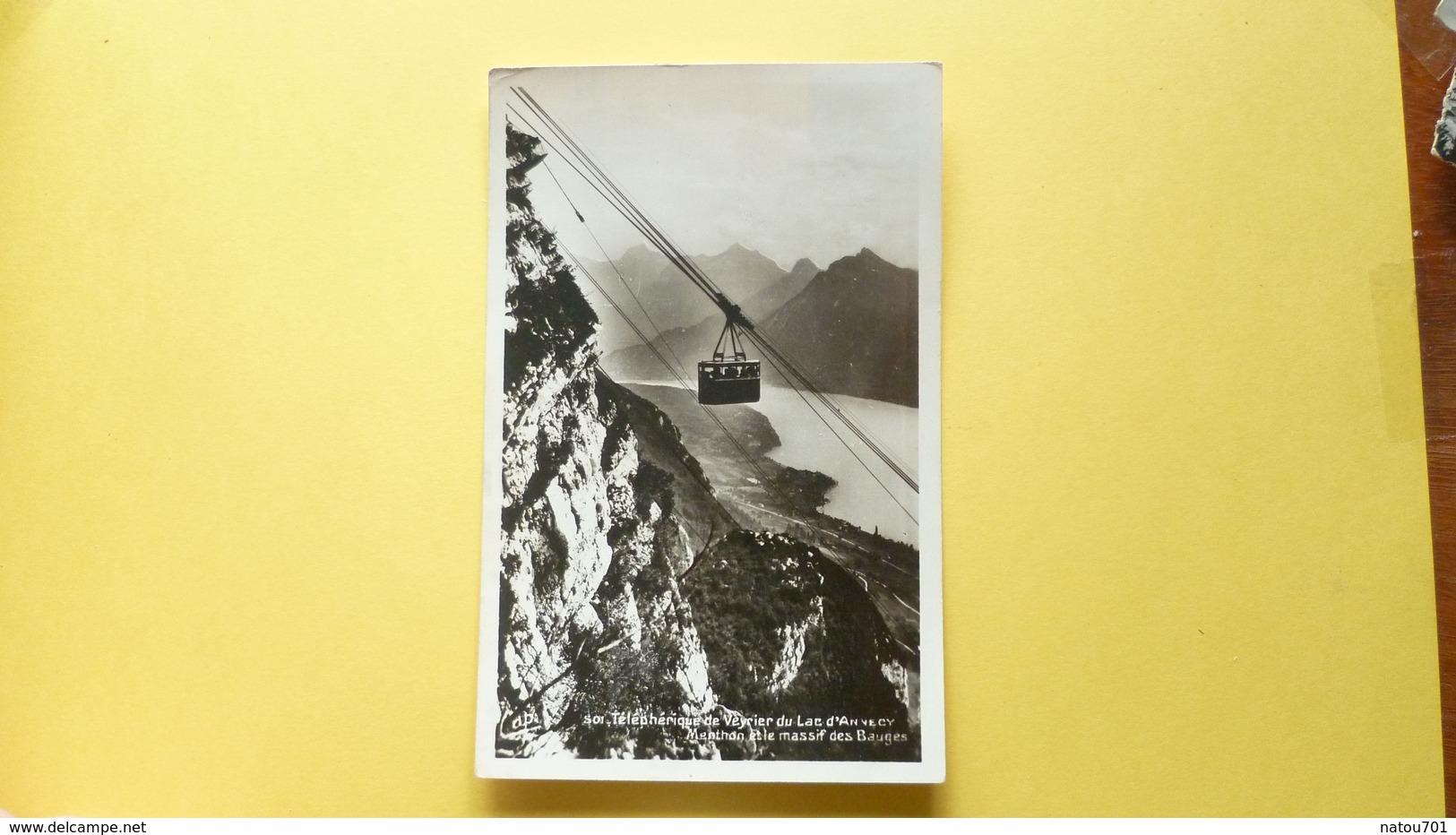 V05-A-B-73-74-haute Savoie-telepherique De Veyrier- Lac D'annecy- Menthon Massif Des Bauges- - Veyrier