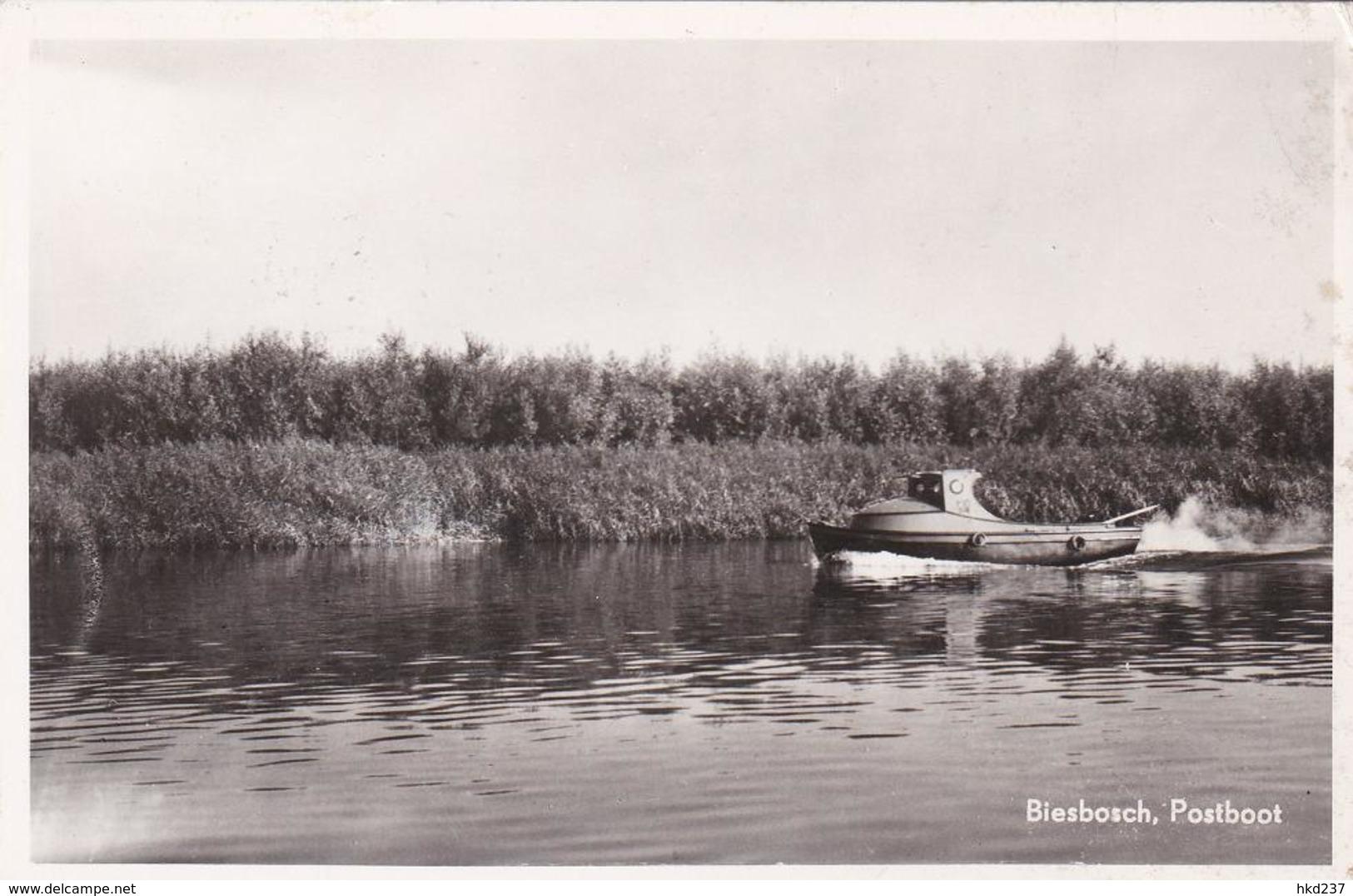 Biesbosch Postboot Mailboat # 1956 N1    778 - Nederland
