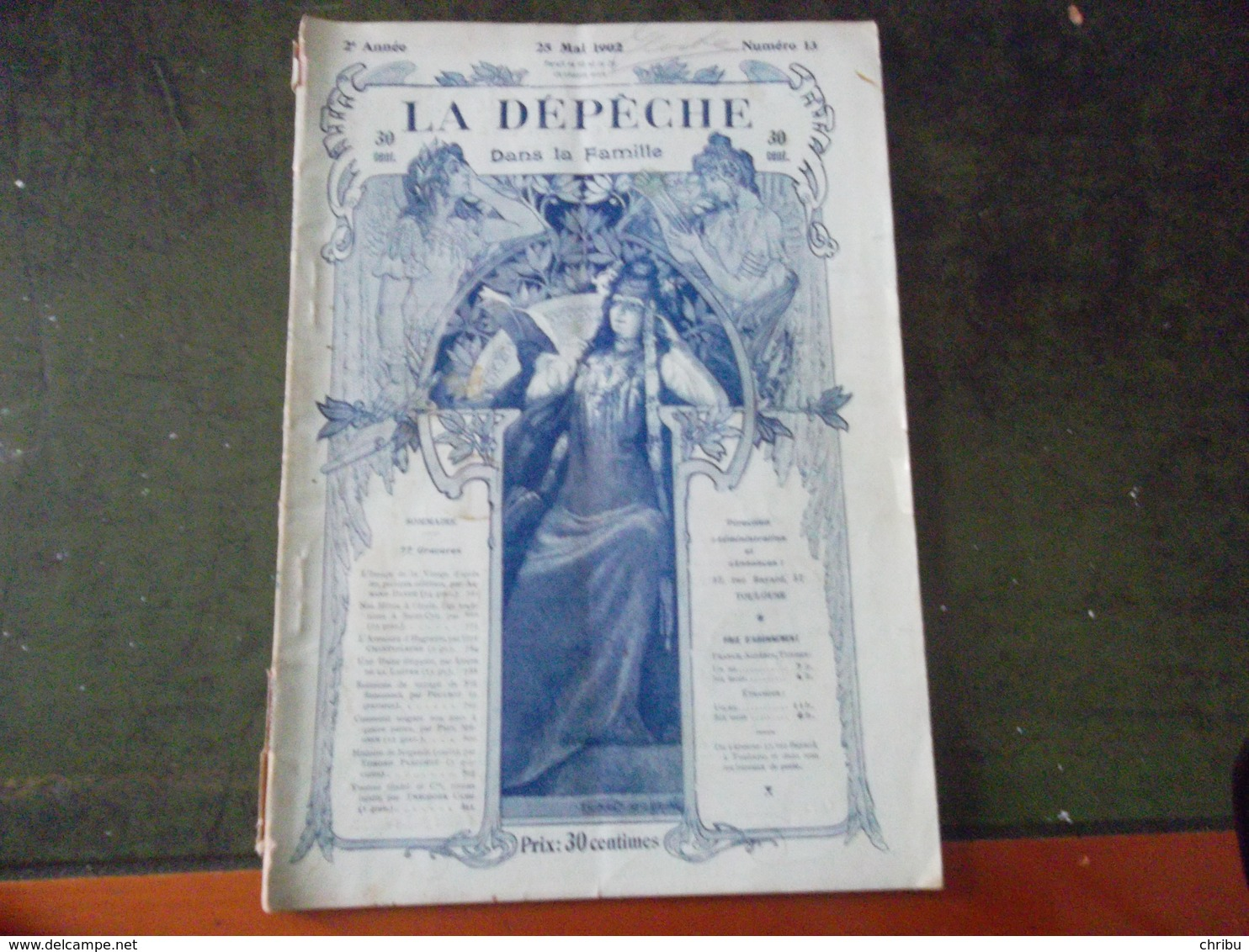 LA DÉPÊCHE DANS LA FAMILLE 25 MAI 1902 - Journaux - Quotidiens