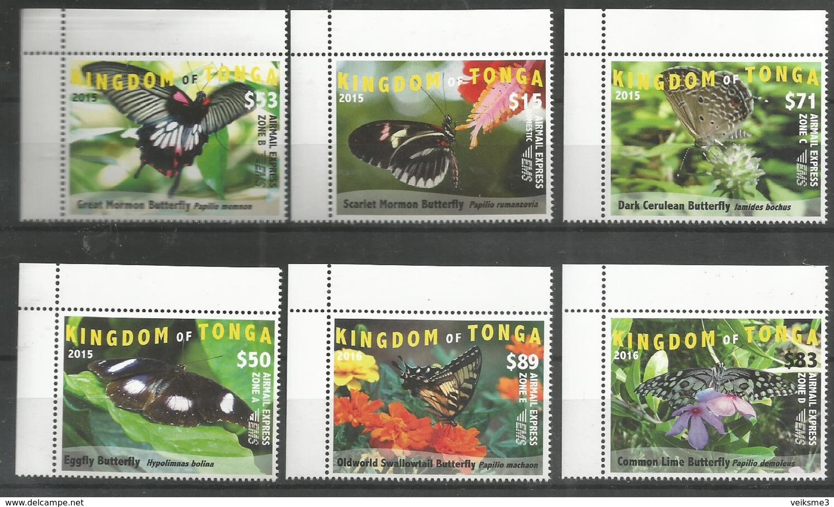KINGDOM OF TONGA - MNH - Animals - Insects - Butterflies 2015 - 2016 - Schmetterlinge