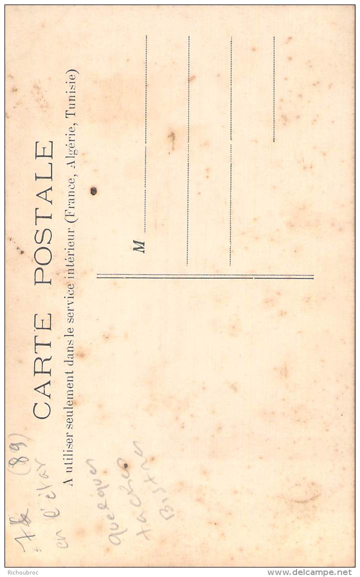 89 RARE JOIGNY DEVANTURE ETABLISSEMENT DURAND PLACE DU PILORI  / EPICERIE MERCERIE SPECIALITE DE CAFES FINS - Joigny