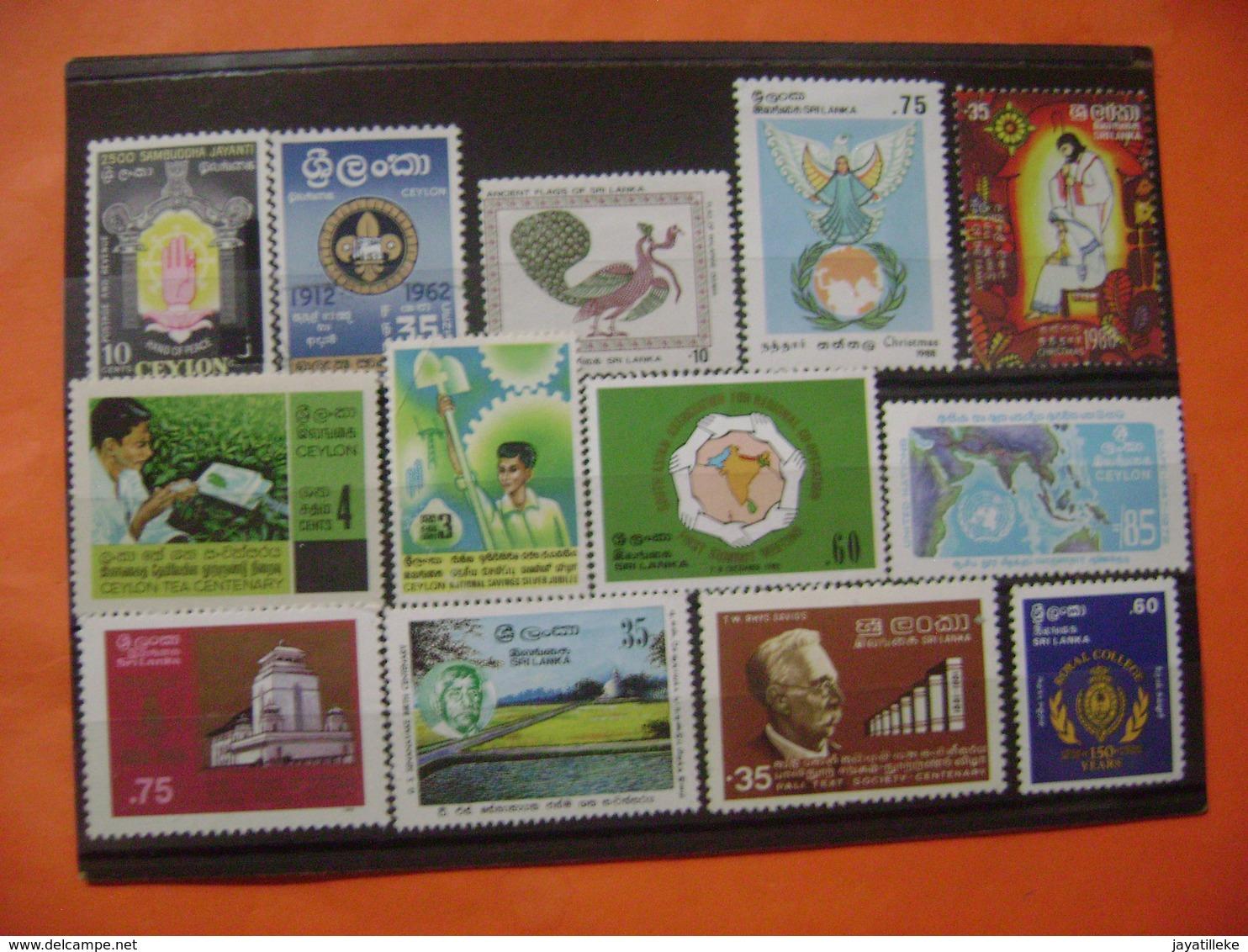 SRI LANKA (CEYLON)   13 RARE TO FIND AND VALUABLE STAMPS MINT. - Sri Lanka (Ceylon) (1948-...)
