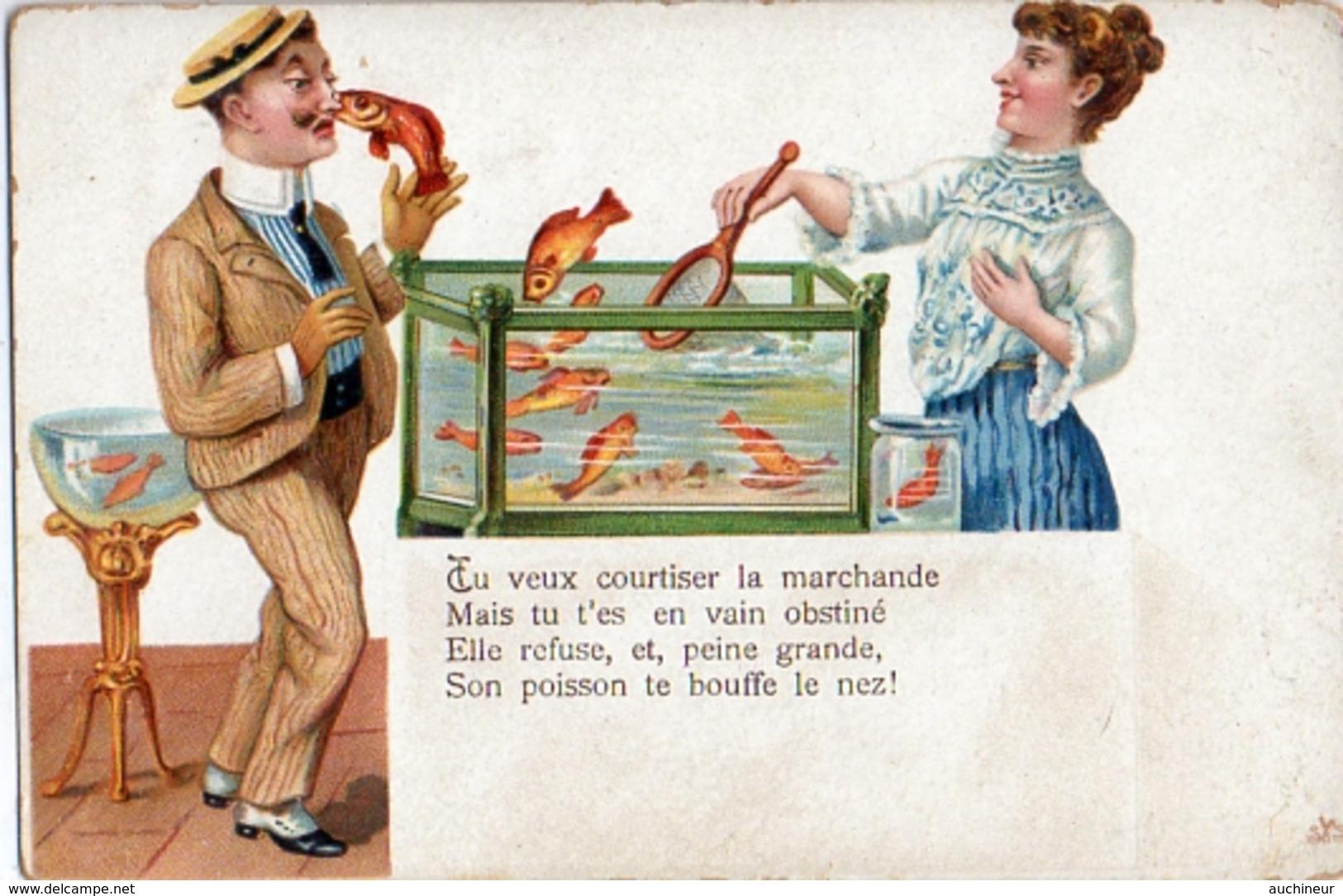 1er Avril 114, Humour Poisson Te Bouffe Le Nez - 1° Aprile (pesce Di Aprile)