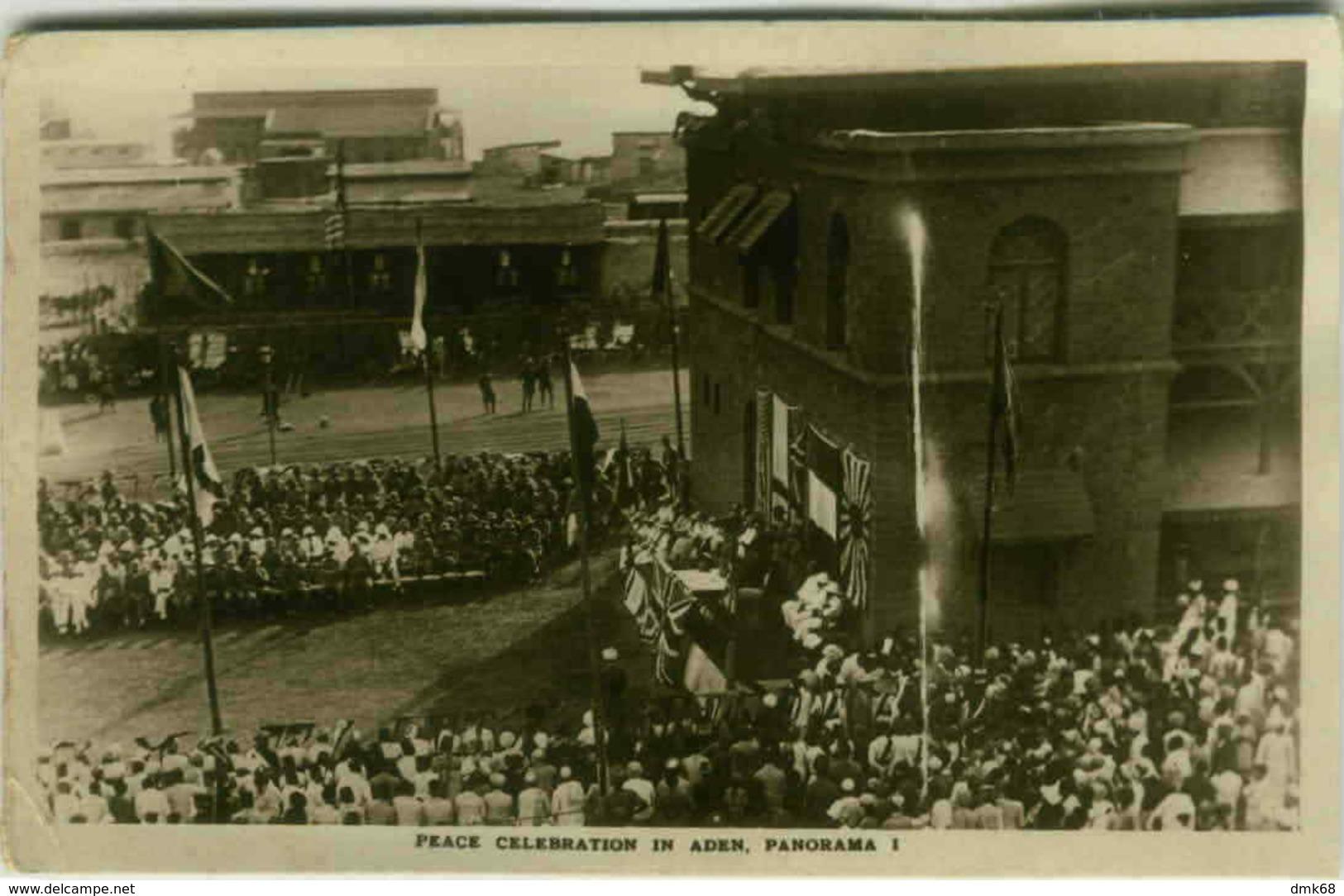 ADEN - PEACE CELEBRATION -  BOAT POSTMARK / ANNULO DI BORDO -  REGIA NAVE ALULA - RARE - 1920s (2982) - Yemen
