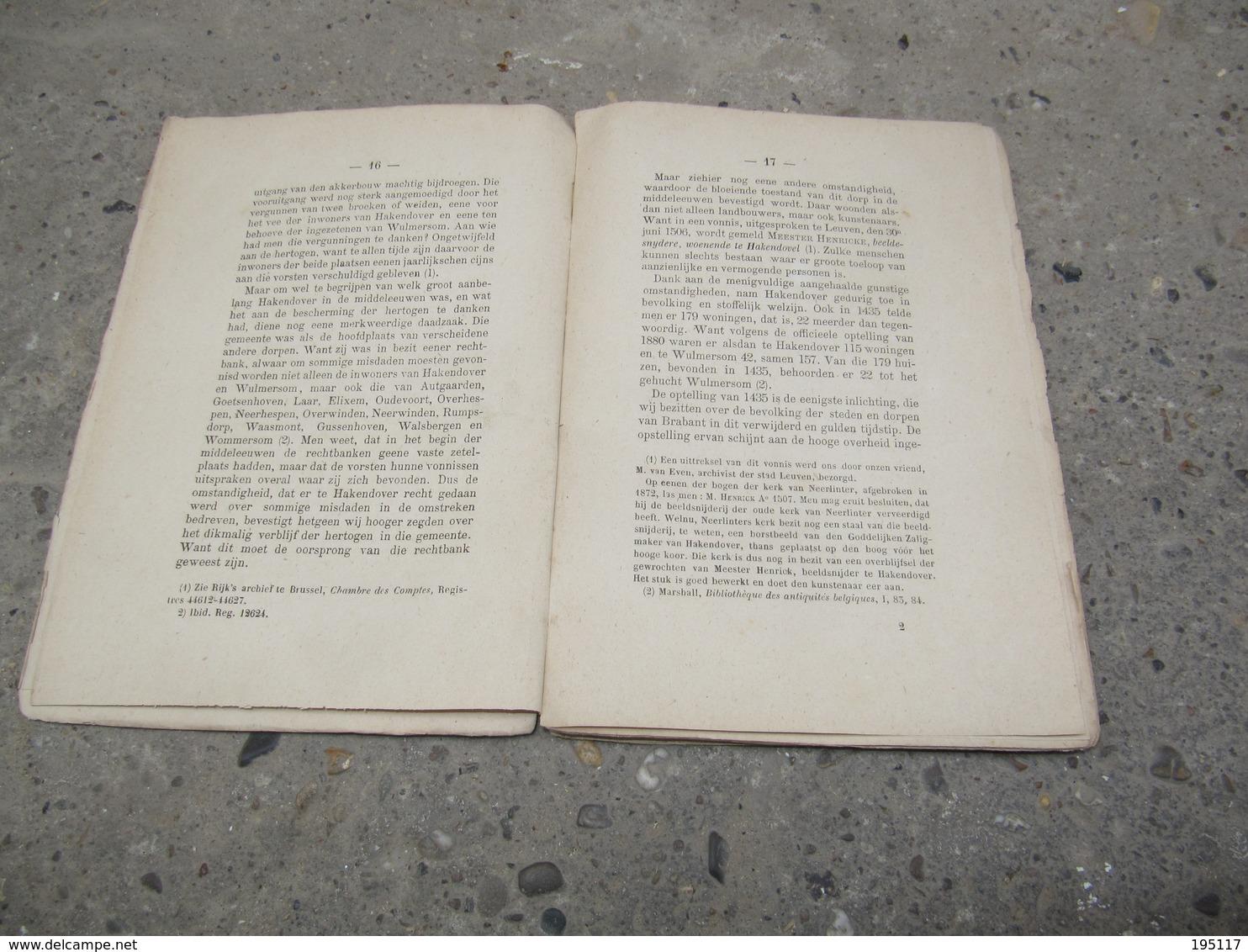 Tienen - Hakendover - Geschiedenis Van De Kerk - Uitgave 1882 - Tienen