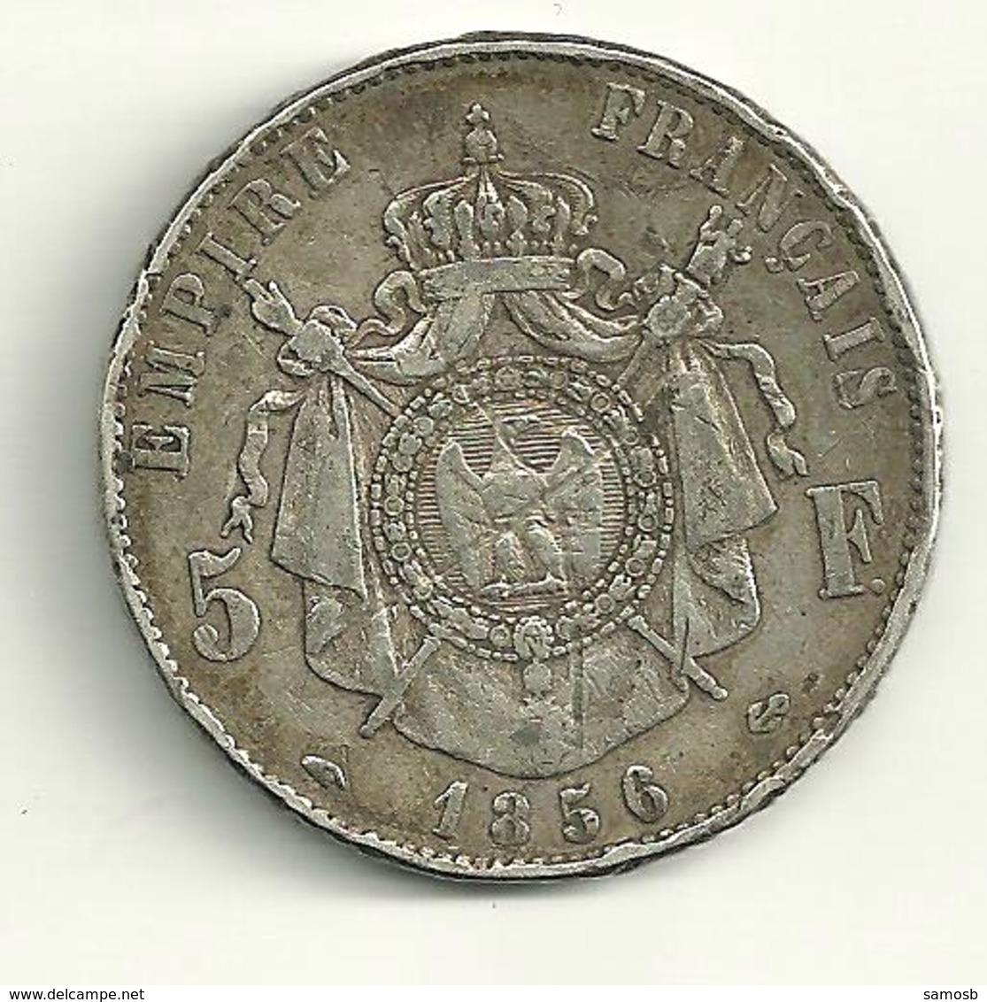 5 F Napoléon III 1856 A - France