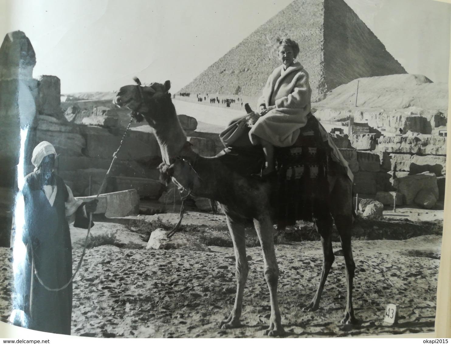 ÉGYPTE GRÈCE ITALIE BELGIQUE 2 ALBUMS AVEC UN TOTAL DE 128 PHOTOS ORIGINALES ET 120 CARTES POSTALES COLLÉES DANS ALBUMS - Albums & Collections