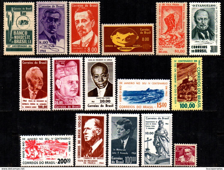Brasil C 0506 / 521 Selos Comemorativos Completo 1964 NNN - Unused Stamps