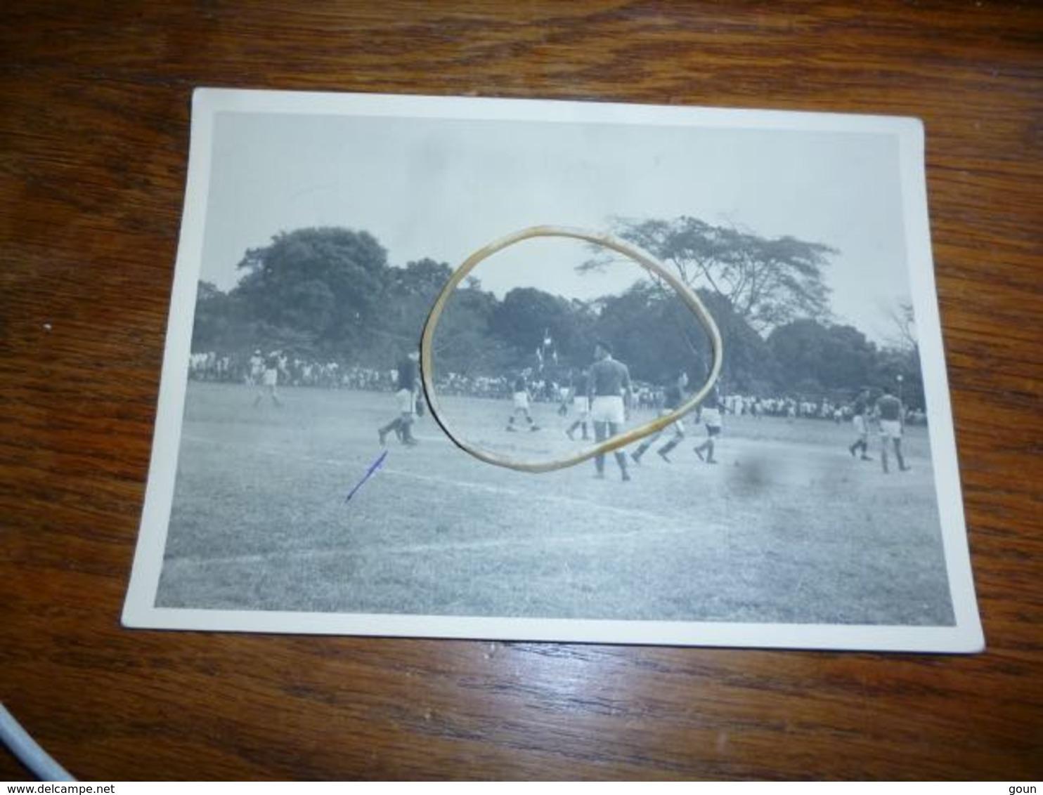 BC4-3-5-4 Carte Photo Football Equipe Congo Belge Contre Afrique Equatoriale Française 1955 à Bangui - Centrafricaine (République)