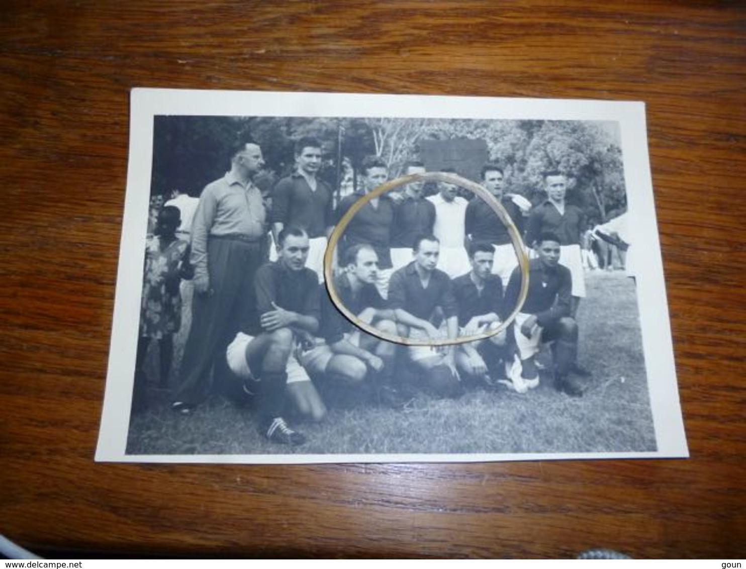 BC4-3-5-4 Carte Photo Football Equipe Congo Belge En Afrique Equatoriale Française 1955 à Bangui - Centrafricaine (République)