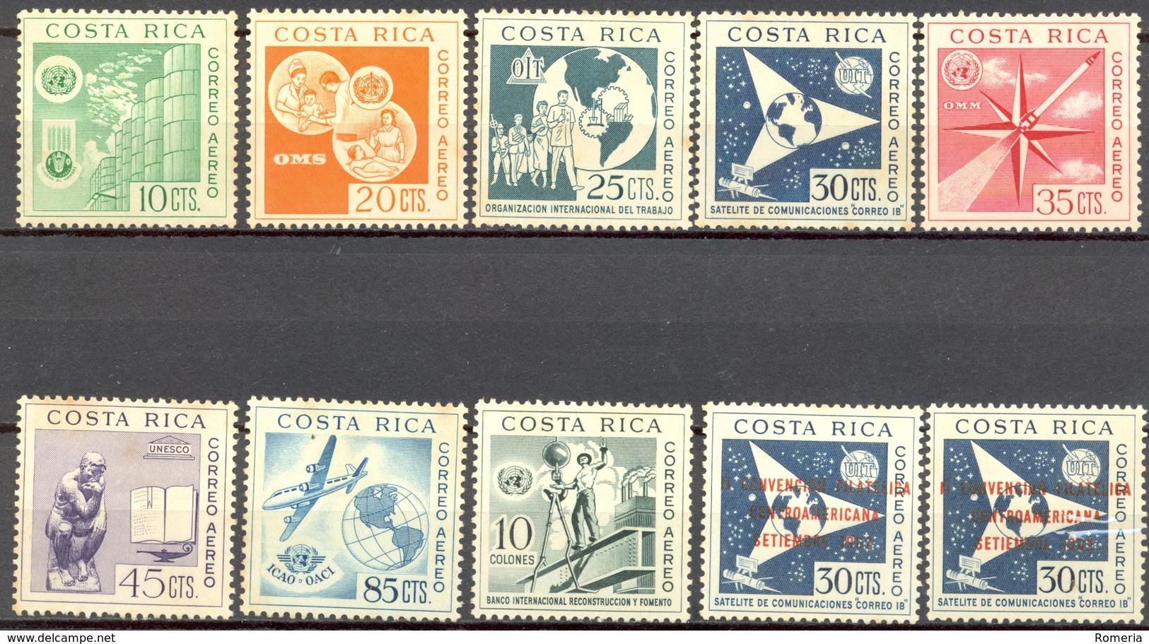 Costa RIca - 1961 - Yt PA 318/325 + 335 - 15 Ans De L'O.N.U. - ** Et * TC (335) - Costa Rica
