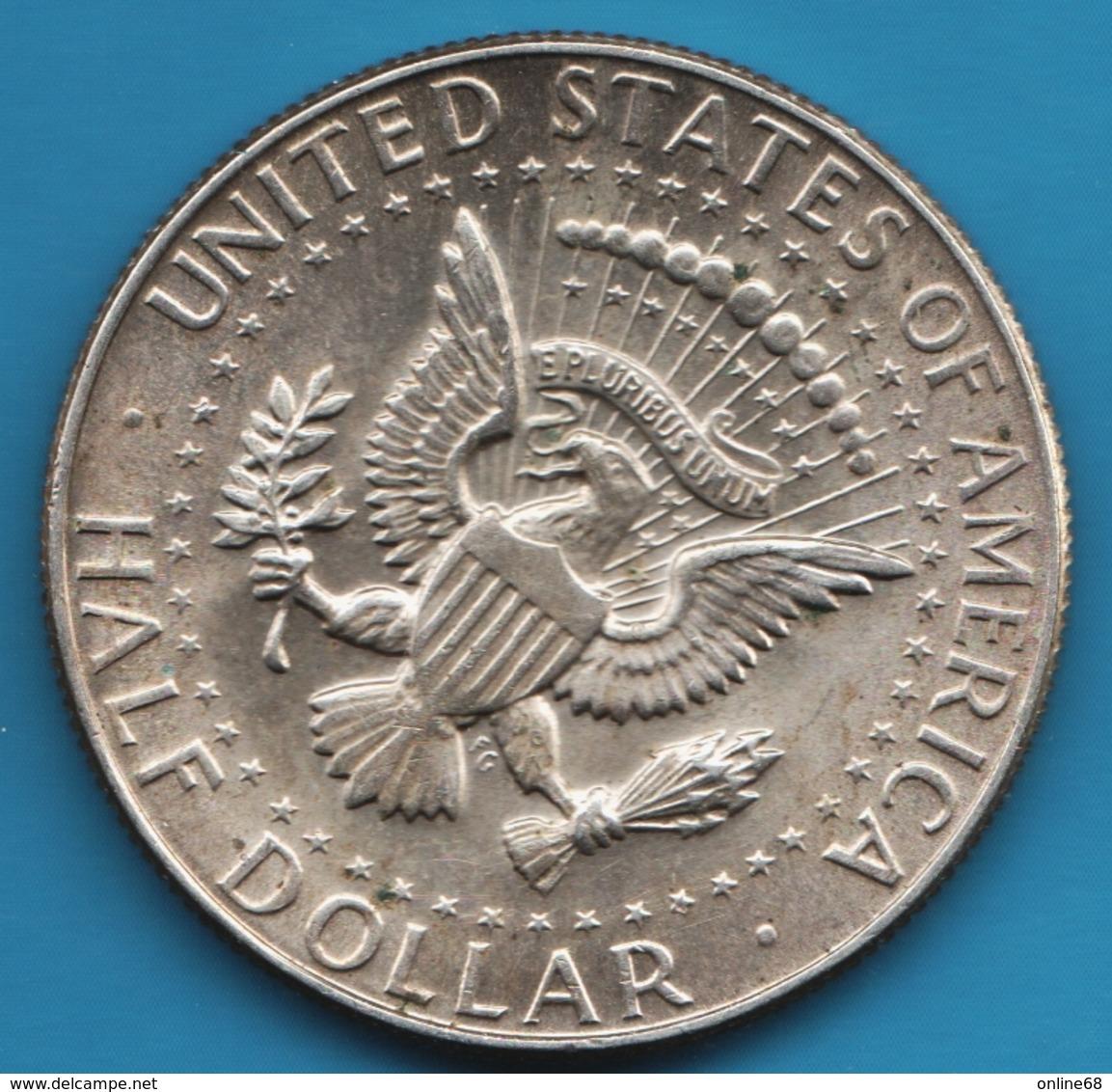 USA ½ Dollar 1968 D Kennedy Half Dollar Argent 400‰ - Federal Issues