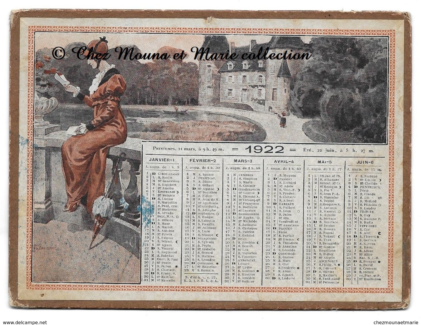 CALENDRIER 1922 17 X 12.5 CM - Kalenders