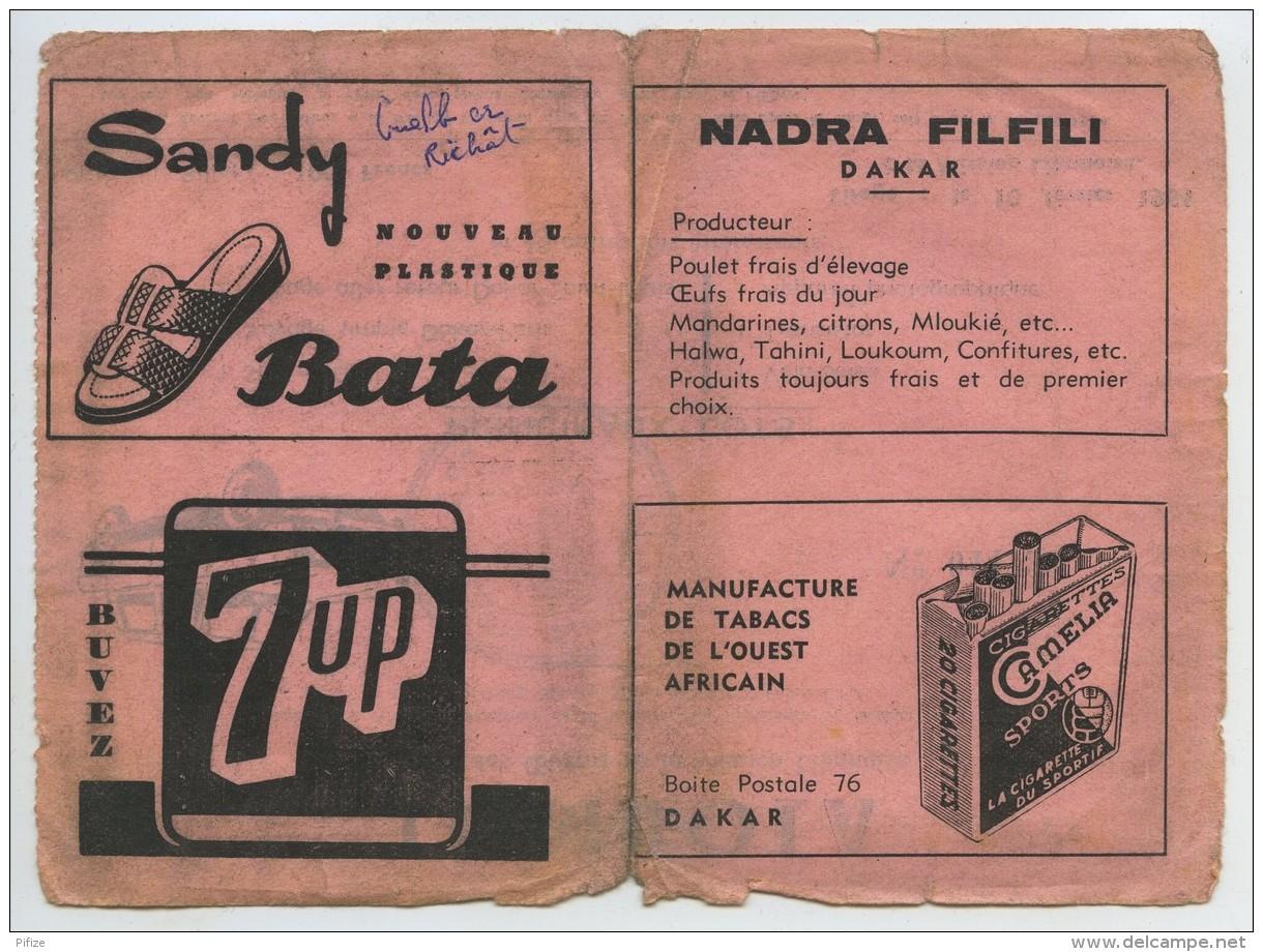 Billet De Tombola Au Profit Des Oeuvres De La Mission Libanaise . Dakar 1964 . Liban . Simca 900 . - Billets De Loterie