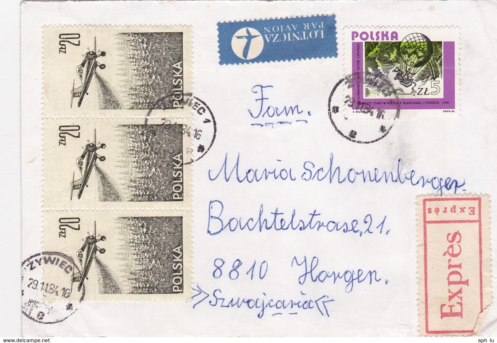 Brief In Die Schweiz (br3891) - 1944-.... République