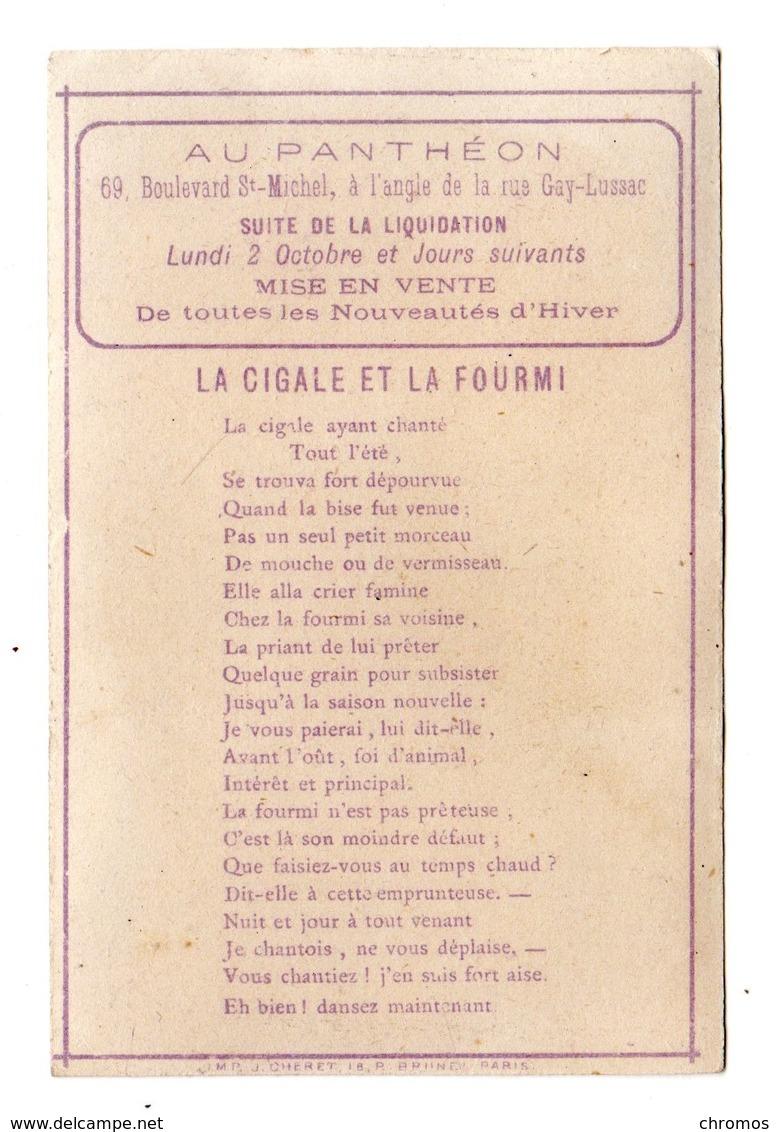 Chromo Imp. Chéret, Cigale Et Fourmi - Otros