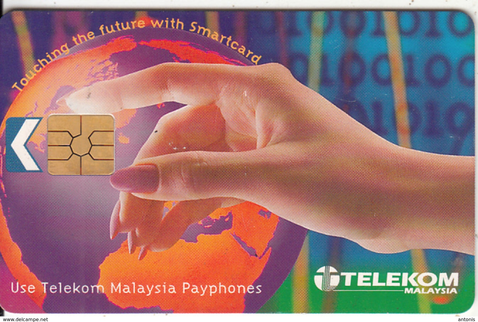 MALAYSIA(chip) - Touching The Future With Smartcard, Telecom Malaysia Telecard RM10, Chip GEM2.3, Used - Malaysia